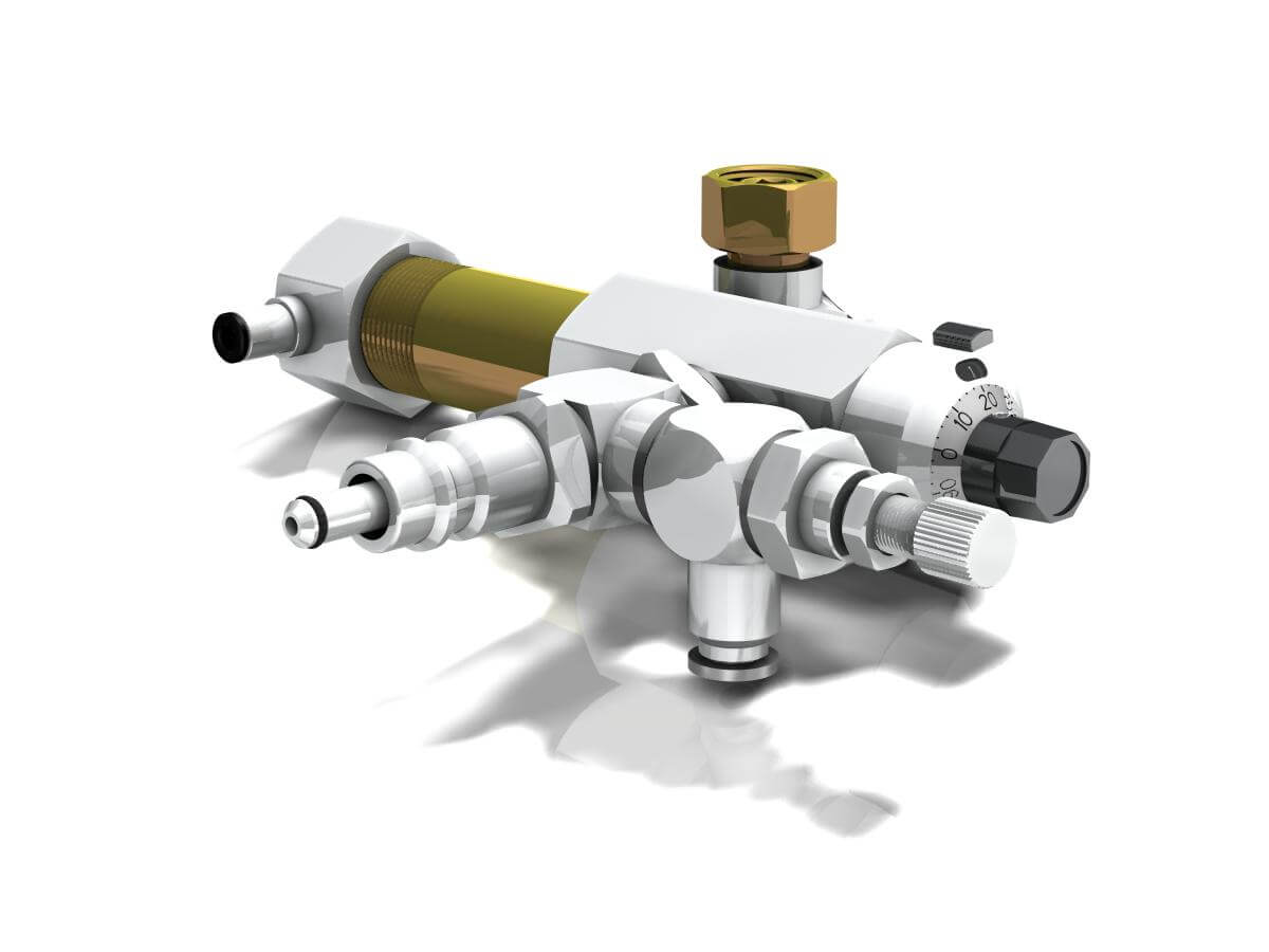 dosing pump for the application with two-component jet nozzles