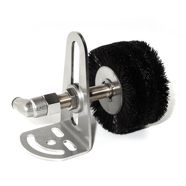Roller lubtication brush with mounting bracket