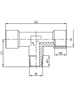 centre male tee hydraulic pneumatic fitting