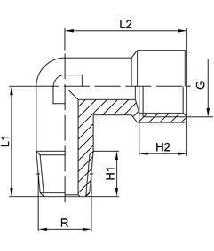 elbow hydraulic pneumatic fitting