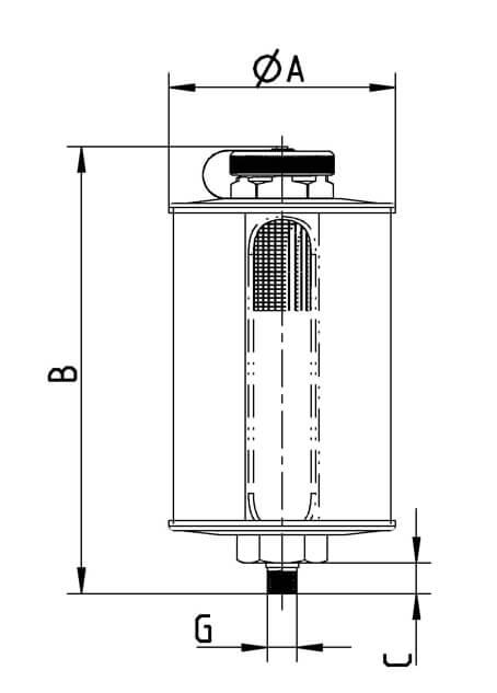 Réservoir d'huile ou bac à huile industriel