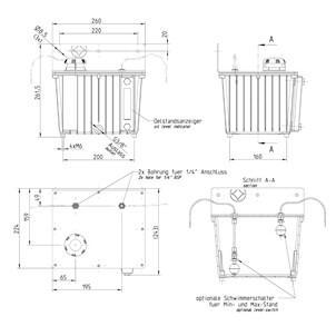 Aluminiowy pojemnik do przechowywania lub pojemnik na olej