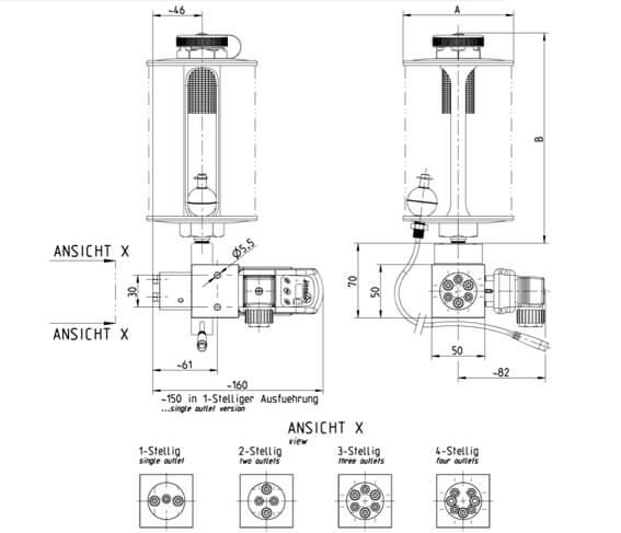 Schmierpumpe oder Schmierölpumpe als Dosieröler zur Kettenschmierung
