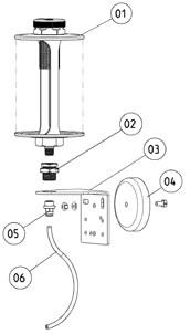 Ölbehälter Montageteile