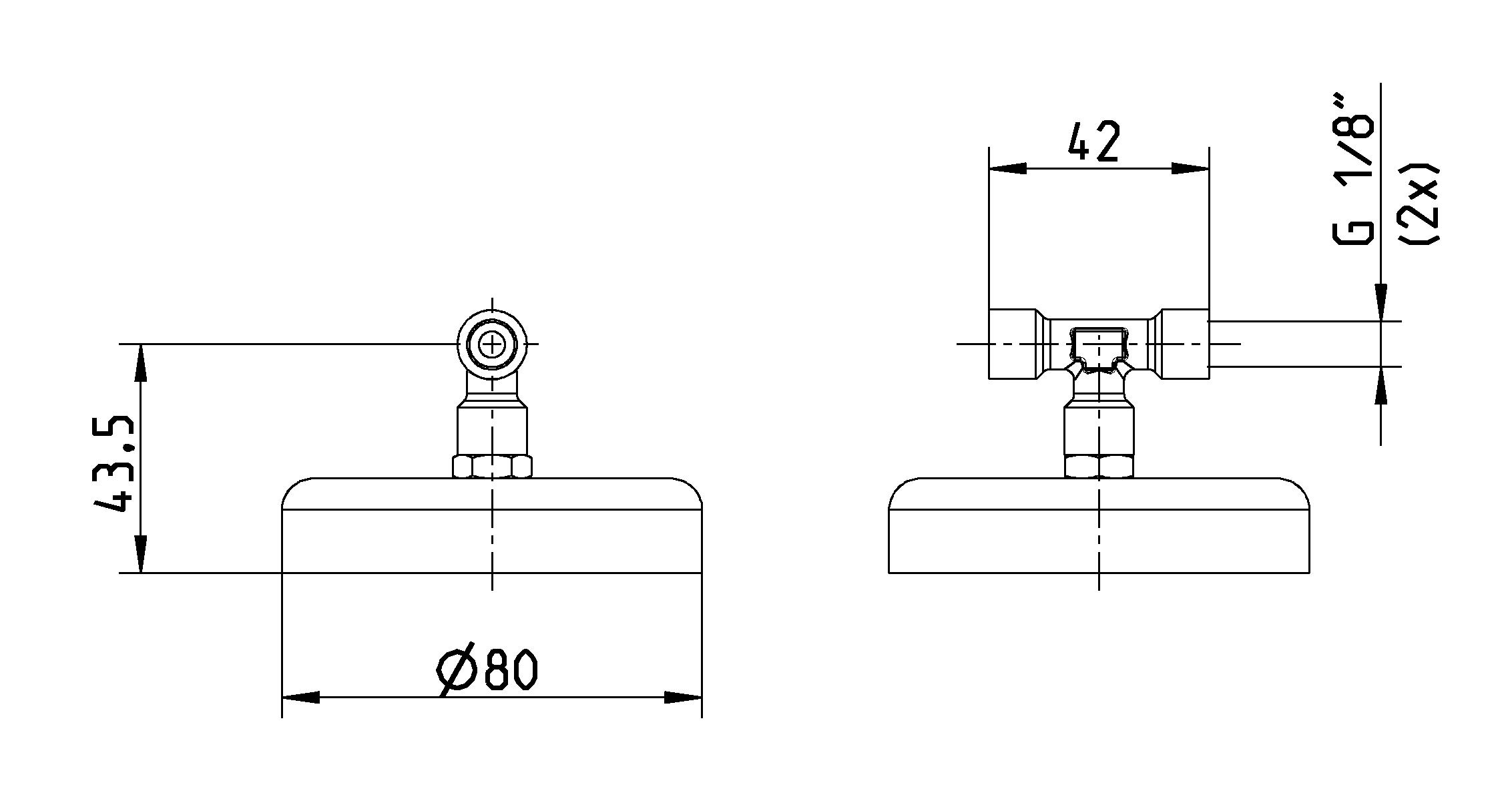 Magnetdüsenhalter Ø80 für Sprühdüsen