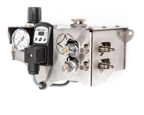 Minimalmengen- Kühl-Schmiersystem SputtMiK mit zwei Mikro-Dosierpumpen