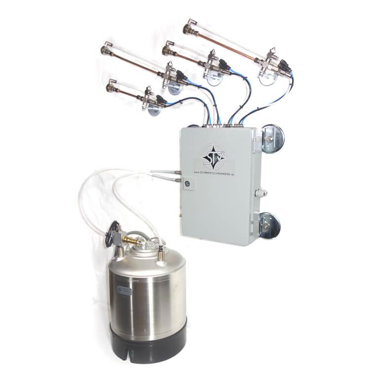 Układy smarowania o minimalnej ilości ze zbiornikiem ciśnieniowym do rozpylania oleju smarowego