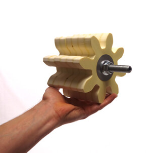 Lubrication gears for grease