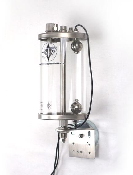 V4A Edelstahl Ölbehälter mit zwei Schwimmerschaltern