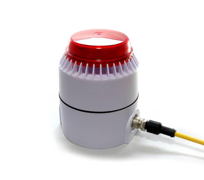 Signalleuchte und Signalhorn für Schmiergeräte