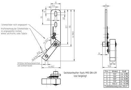 Zeichnung Halter für Kettenschmierritzel